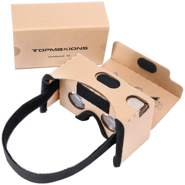 3D VR Virtual Reality DIY Glasses For 3D Movies and Games Compatible with Android & Apple Up to 6 Inch Easy Setup Machine