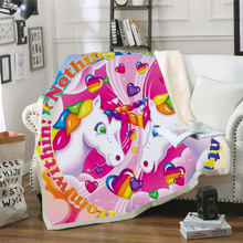 Plstar Cosmos Lisa and Frank Cartoon Blanket 3D print Sherpa on Bed Kids Girl Flower Home Textiles Dreamlike style-5