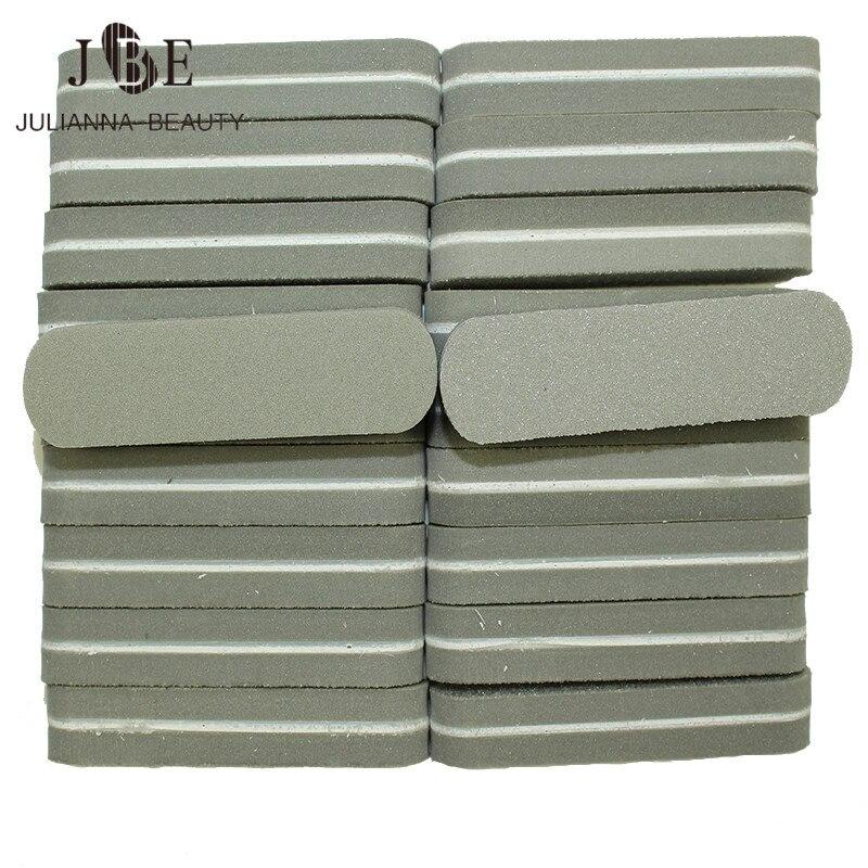 40 pcs lote lixa de unha cinza lustrando lixar arquivos buffer do bloco manicure dicas nail