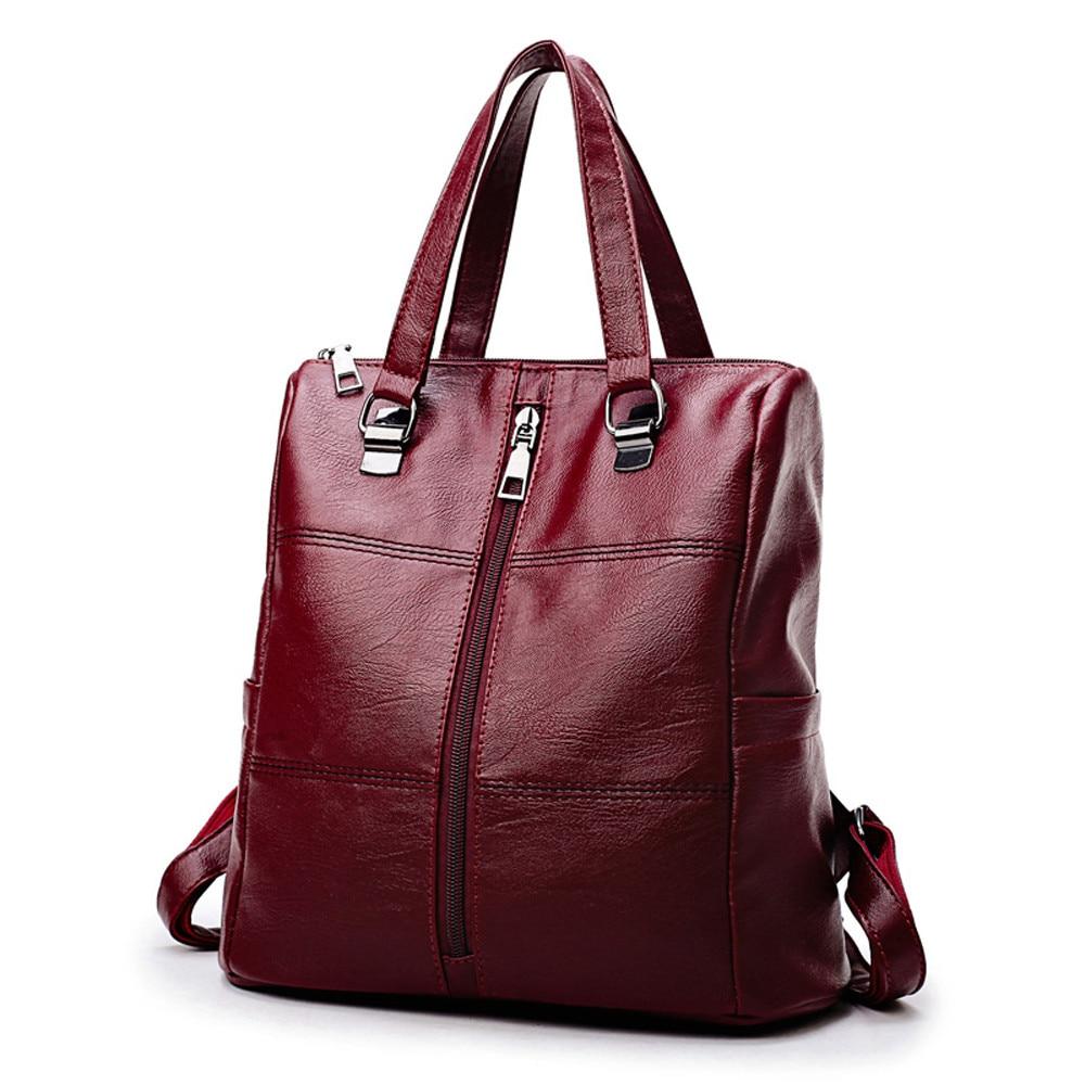 OCARDIAN Backpack Women Female Korean Version Vintage Girl Leather School Bag Satchel Women Travel Shoulder Bag Innrech Market.com