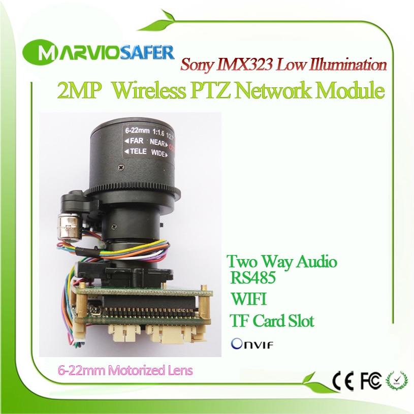 1080 p FULL HD 2MP WIFI IP Réseau PTZ Caméra Module Sans Fil Conseil Motorisé Auto-focal 6-22mm Zoom Lentille Onvif RTSP