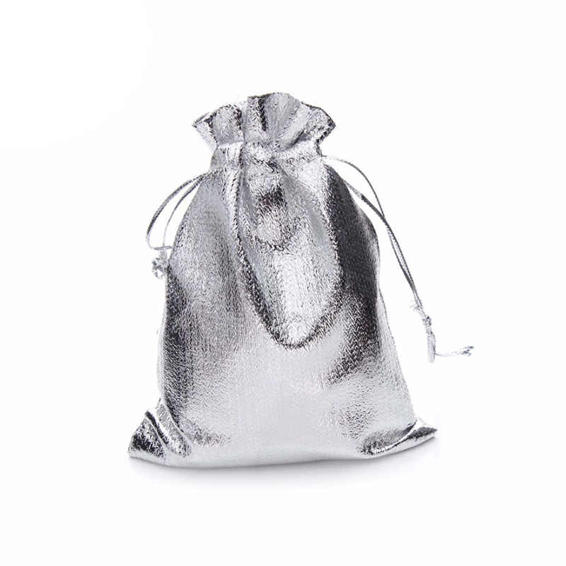 100 pcs כסף מתכתי רדיד בד אורגנזה שקיות חתונה קישוט מתנות קרפט סוכריות Drawable אריזת שקיות