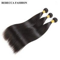 Rebecca Brut Indien Vierge de Cheveux de Cheveux Humains Bundles 3 PC Cheveux Raides Weave Bundles Offre Salon Cheveux Extensions 10-28 pouce 300g