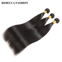 Rebecca Raw Indian Virgin Hair Human Hair Bundles 3PC Straight Hair Weave Bundles Deal Hair Extensions 10 28 inch 300g