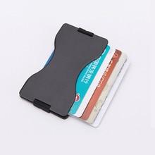 Metal Credit Card Holder Aluminum Alloy Travel Wallet Anti RFID Case Bank Cart Cover