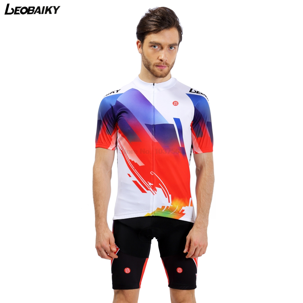 LEOBAIKY 2017 Summer Cycling Jersey Set Short Sleeve Clothing MTB Bicycle Clothes Maillot Ropa Ciclista Bike Jerseys Sportswear new wosawe brand new cool cycling jersey set short sleeve sportswear polyester summer bike cycling clothing ropa ciclismo fcfb