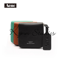 Acne women genuine leather short standard wallet,fashion lady real leather purse,acne wallet,clearance sale
