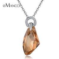 Drop water shape crystal hangers verklaring kettingen eManco 2016 gloednieuwe mode voor vrouwen sieraden Groothandel TX01006