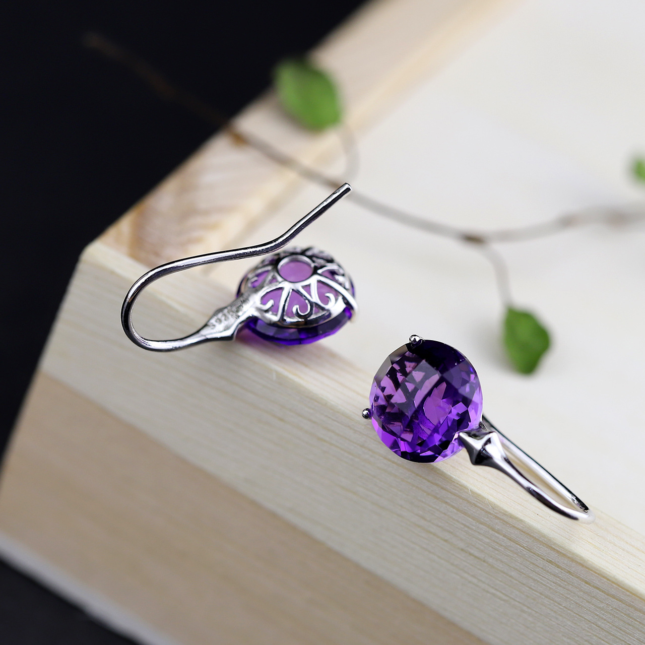 Character Silver Items S925 Pure Silver Ornaments Earrings Wholesale Thai Silver Handmade Woman Cut Amethyst Pendant character silver product s925 pure silver new mark antique watch authentic thai contracted female model