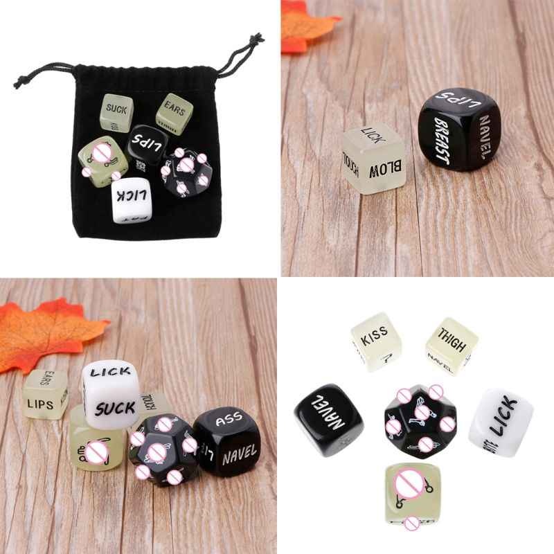 6 PCS Fun Acrylic Dice Love Dice Sex Dice Erotic Dice Love Game Toy Couple Gift