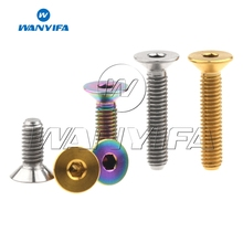 Wanyifa Titanium Bolt Screw M4x8 10 15 20mm Countersunk for Bicycle Pedal