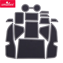 smabee Gate slot mats For NISSAN KICKS red/blue/white 15pcs  Interior Door Pad/Cup Dust mats Water Coaster Non-slip