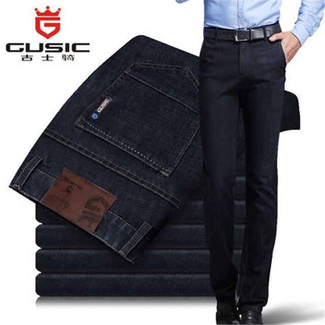 2015 Новое поступление Мужские Джинсы Бренд Gusic Летние джинсы большого размера (28-44) Повседневные джинсы из денима для мужчин Мужские облегающие джинсы 275