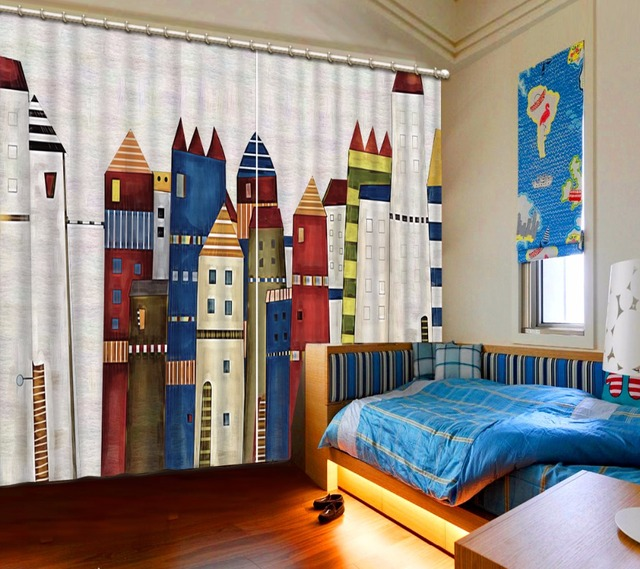 3d vorhänge gebäude vorhänge für wohnzimmer luxuriöse vliegengordijn ...