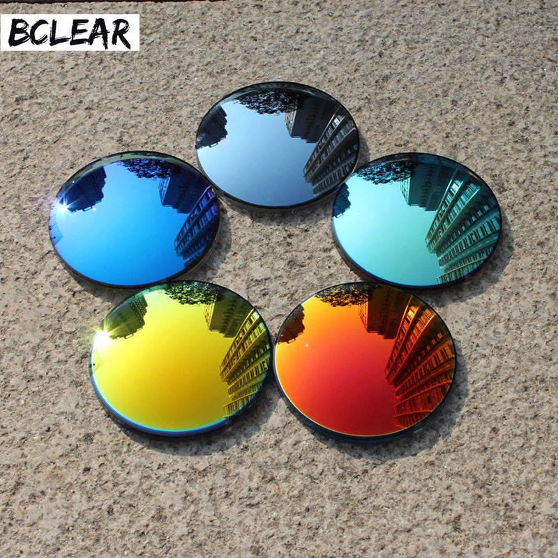 BCLEAR 1.49 Fashion Colorful Polarized UV400 Mirror Reflective Sunglasses Prescription Lenses Driving Myopia Sunglasses