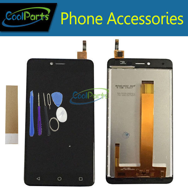 1PC/Lot For BQ BQ-5059 BQS-5059 BQS 5059 Strike Power LCD Display+Touch Screen Assembly Black White Gold Color With Tool&Tape