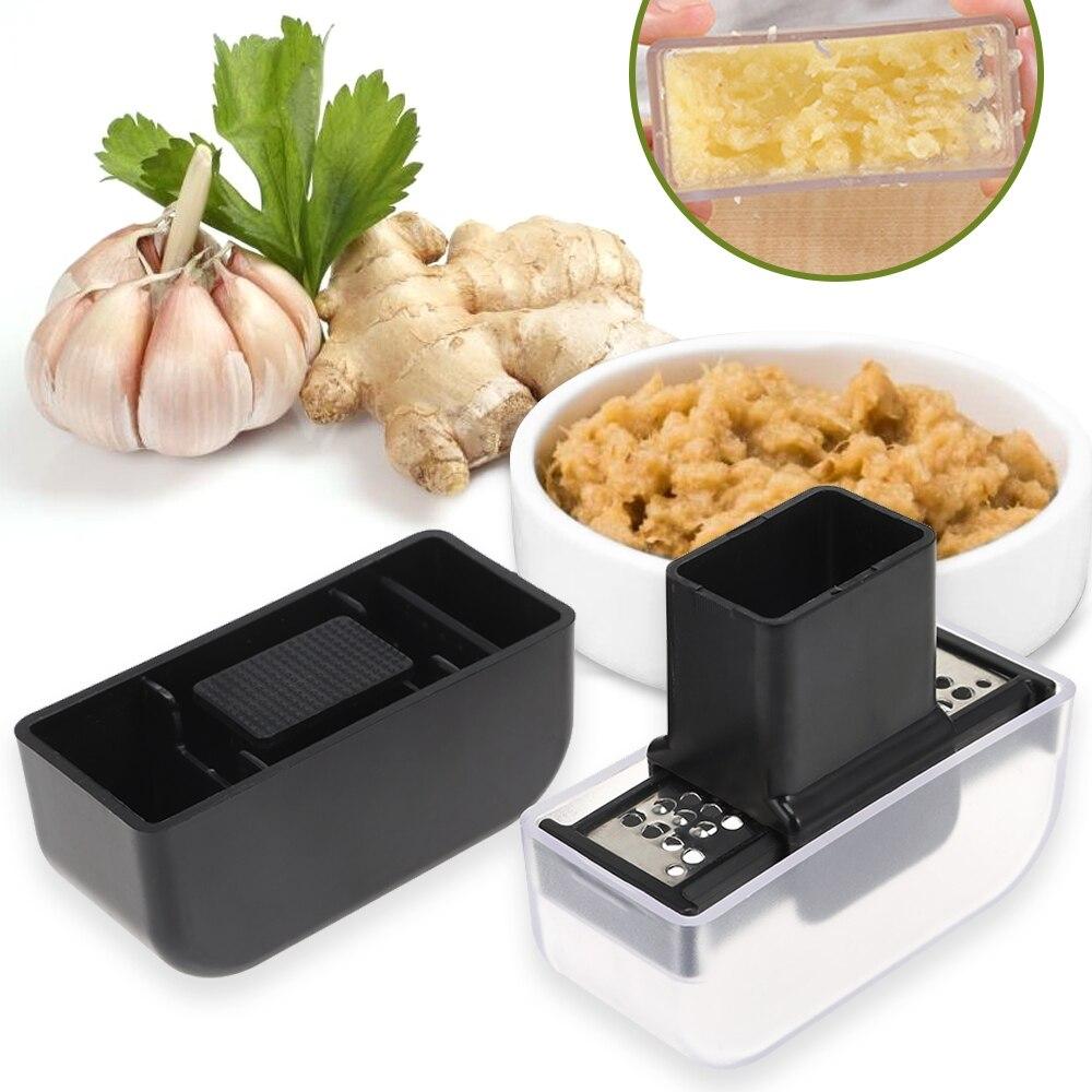 Hot Stainless Steel Ginger Shredder Wasabi Grinder Garlic Grater Kitchen Tool For Restaurant School New Arrival Garlic Grinder