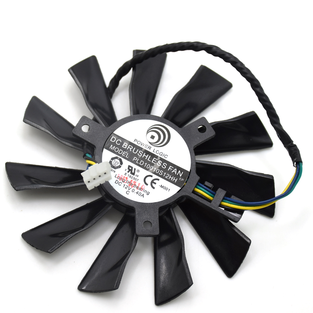 95MM 4Pin PLD10010S12HH Cooler <font><b>Fan</b></font> For MSI Radeon <font><b>GTX</b></font> 770 <font><b>760</b></font> R9 280X 290X 270X R7 260X Graphics Video Card Cooling <font><b>Fans</b></font> image
