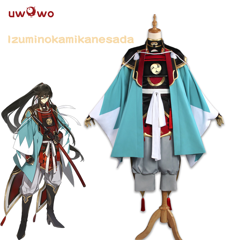 UWOWO Izuminokami Kanesada Cosplay Practing Version Touken Ranbu Online Anime Costume Touken Ranbu Cosplay Izuminokami Kanesada
