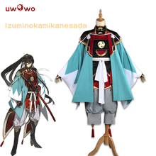 UWOWO Izuminokami Kanesada Cosplay Practing sürüm Touken Ranbu çevrimiçi Anime kostüm Touken Ranbu Cosplay Izuminokami Kanesada