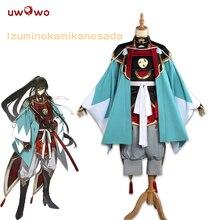 UWOWO Izuminokami Kanesada קוספליי Practing גרסה Touken Ranbu באינטרנט אנימה תלבושות Touken Ranbu קוספליי Izuminokami Kanesada