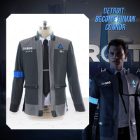 Men's Cosplay Costume 2019 Detroit Becomes Human Cos Kara Bionic Person Uniform Connor Male Clothes Set New Year Costume DY18027