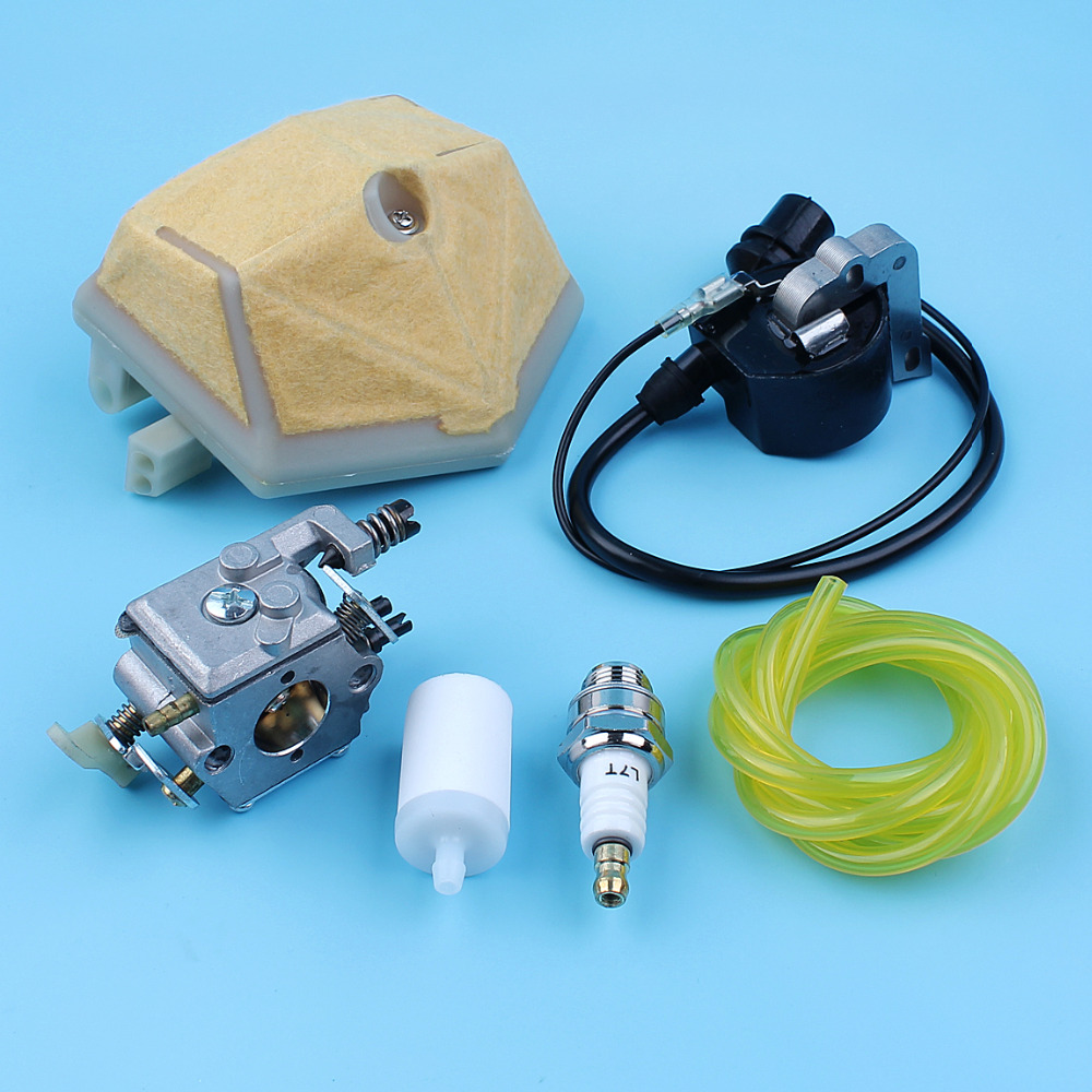 Carburetor Ignition Module Coil Air Fuel Filter Kit For Husqvarna 51 55 Rancher Chainsaw Walbro WT-170, 503281504 цена