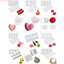 3D Silicone Cake Decorating Mold Baking Tools Mould for Chocolate Brownie Mousse Make Dessert Pan Truffle Pastry Art Fondant