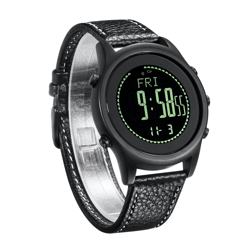 цена на SPOVAN Beyond-6 Carbon Fiber Sport Watches Ultra Thin Silica gel Watchband Black