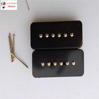Siyah Sabun Çubuğu LP P90 Manyetikler Elektro Gitar Alniko 5 w/Metal Örgülü tel