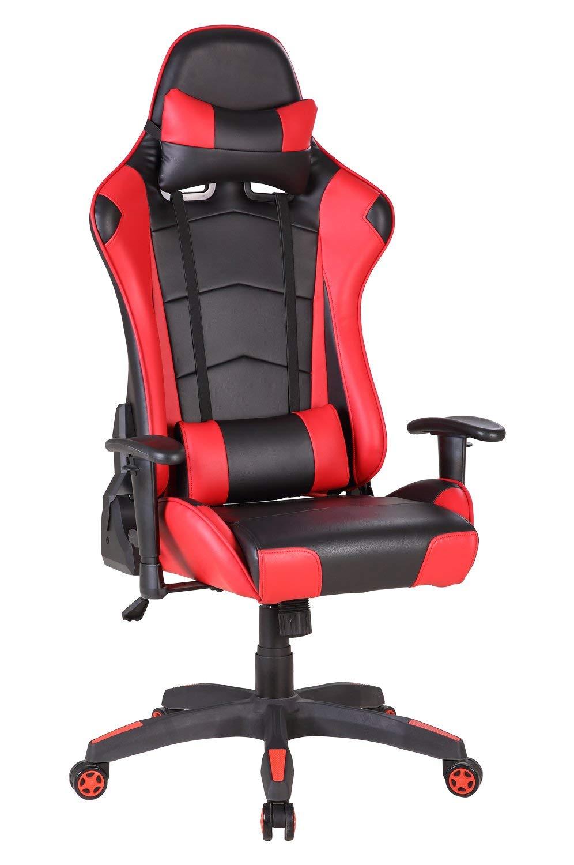 Racing Gaming Chair Executive Chair High Back Reclining Tilt Luxury Bucket Seat Swivel Office Chair Adjustable Lock DE