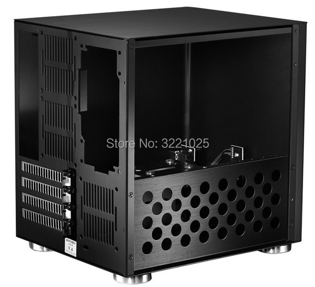 Image 4 - Jonsbo V4 Silver Aluminum Mini ITX MATX computer Case USB3.0  game small chassis  V4B Black HTPC ITX  support 3.5 HDD-in Computer Cases & Towers from Computer & Office