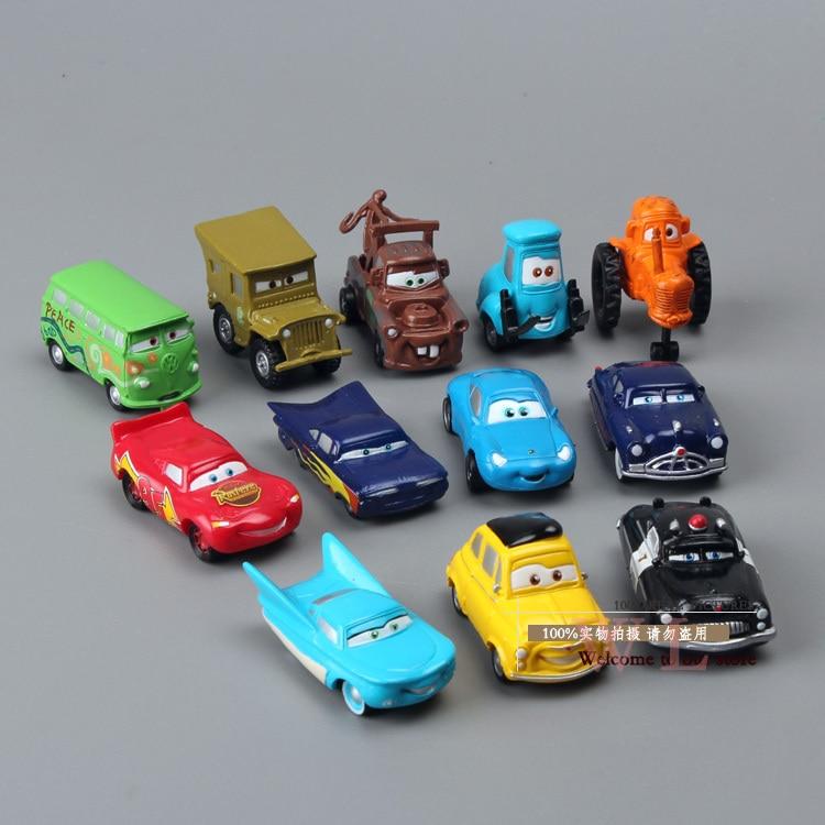 Cars Doc Hudson Sally Mater Ramone Egg Mini PVC Action Figure Model Toys Dolls 12pcs/set DSFG085