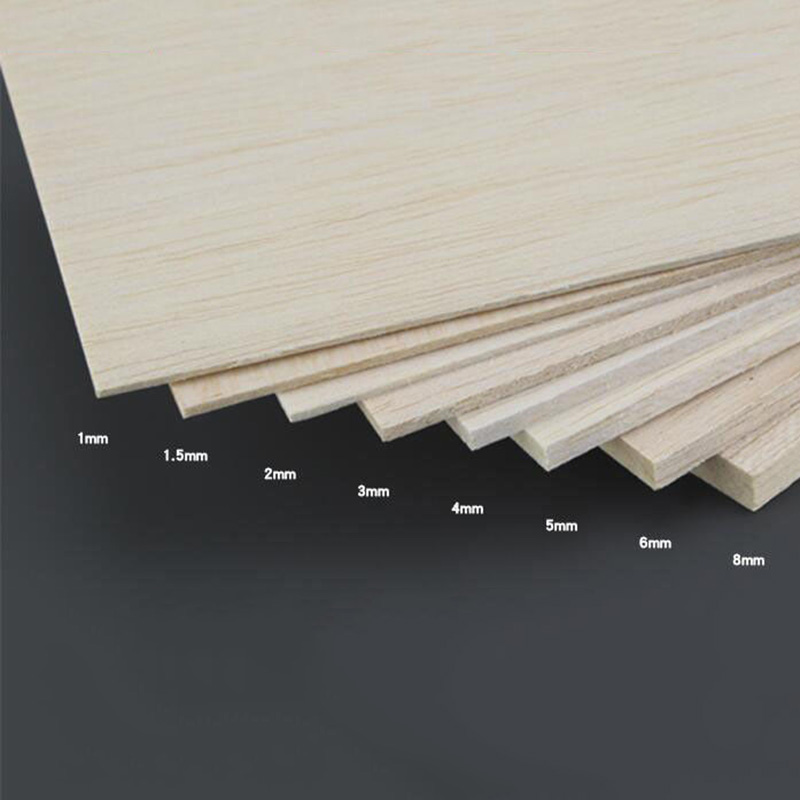 Sheets Wooden House Plate Aircraft Thick Crafts Model Wood 1mm~8mm Balsa DIY Material Sale High Quality Accessory