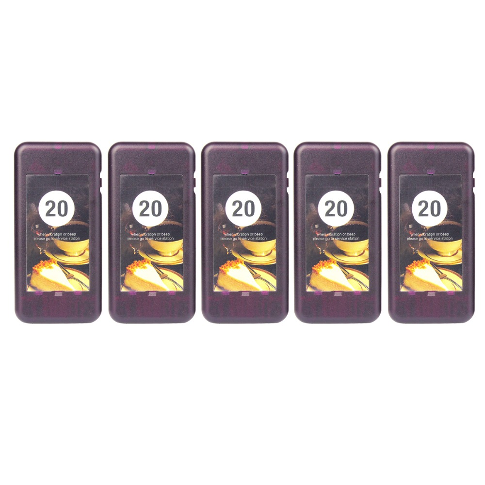 5pcs Call Coaster Pager Receiver for Wireless Pager Restaurant Paging Queuing System Calling System 433MHz F4427A wireless call bell system quick service restaurant pager equipment ycall brand 433 92mhz 1 display 8 call button