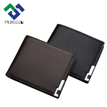 MURSEEN New 2017 PU Men Wallets Short Leather Genuine With Coin Bag Male Standard Wallet Casual Purse Card Holder Wallet Men