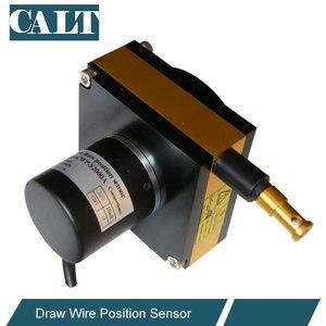 Дешевые 3000 мм Диапазон отслеживания кабель удлинители преобразователи Draw провода смещения датчика линейный кодировщик