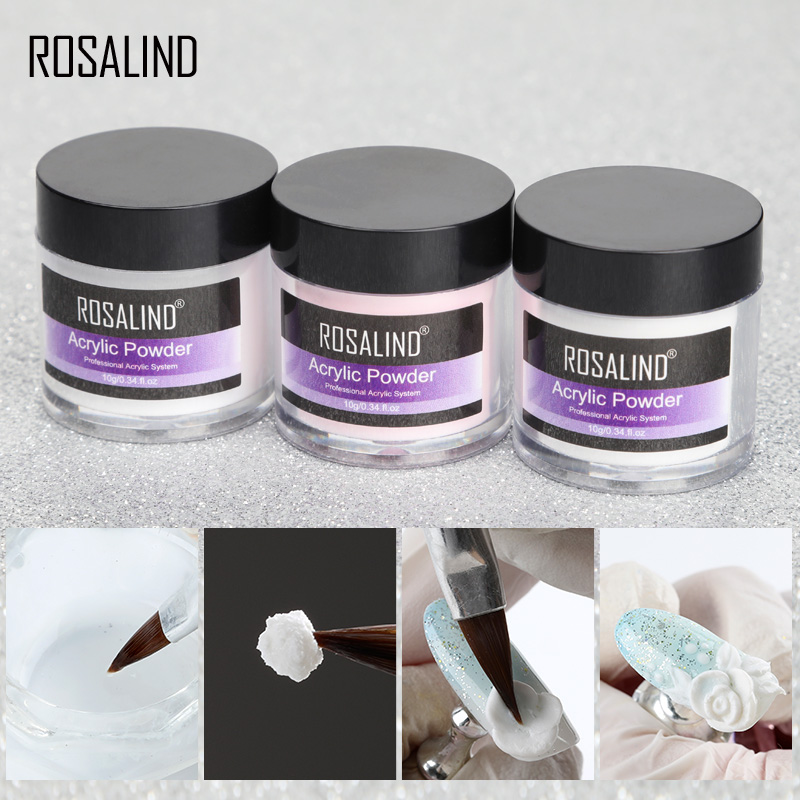 ROSALIND akrilik toz kristal tırnak uzatma jel oje sanat süslemeleri manikür seti seti profesyonel Accesorios