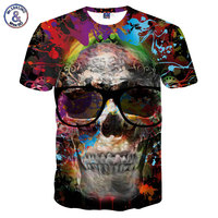 Mr 1991INC New Fashion Men Women Skulls T Shirt Print Paint Skulls 3d T Shirt Cool