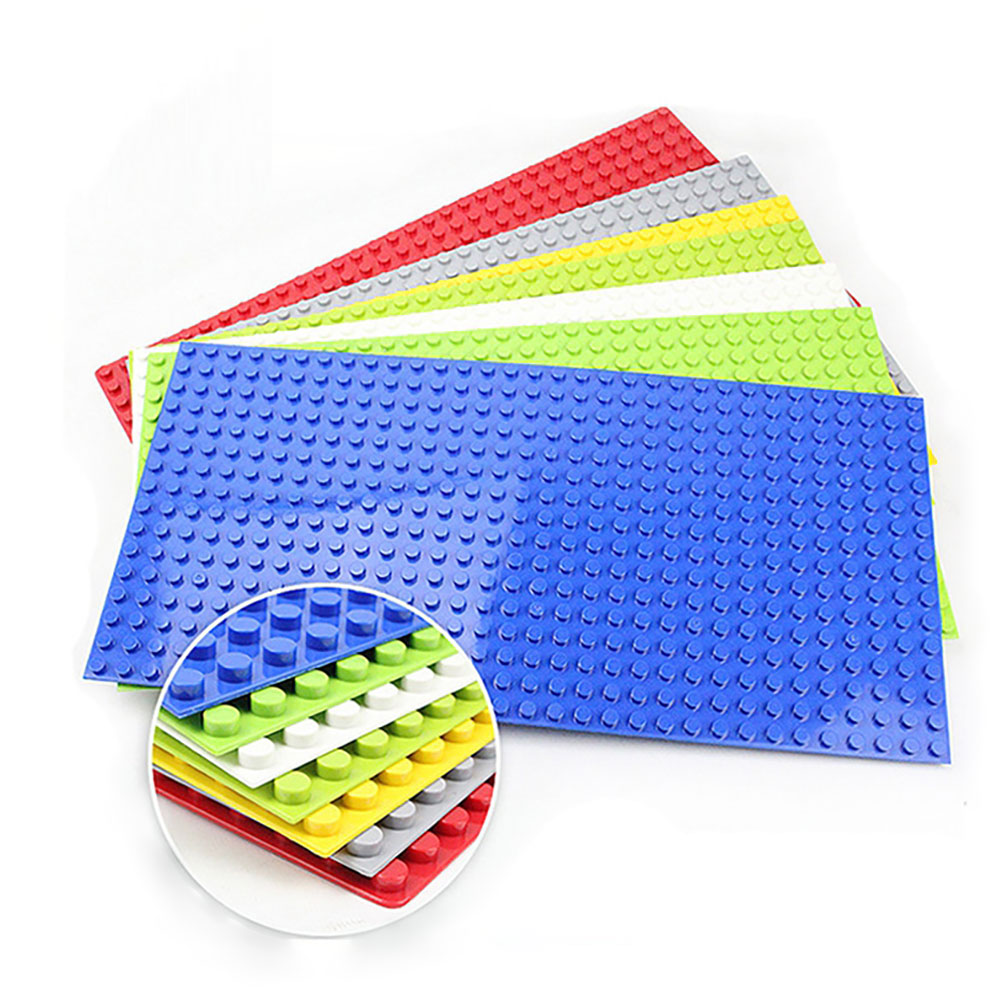 Duploes Base plate 16*32 <font><b>Dots</b></font> 51*25.5cm Big size Board DIY Building Block Toys For Children Compatible with large particle toy image