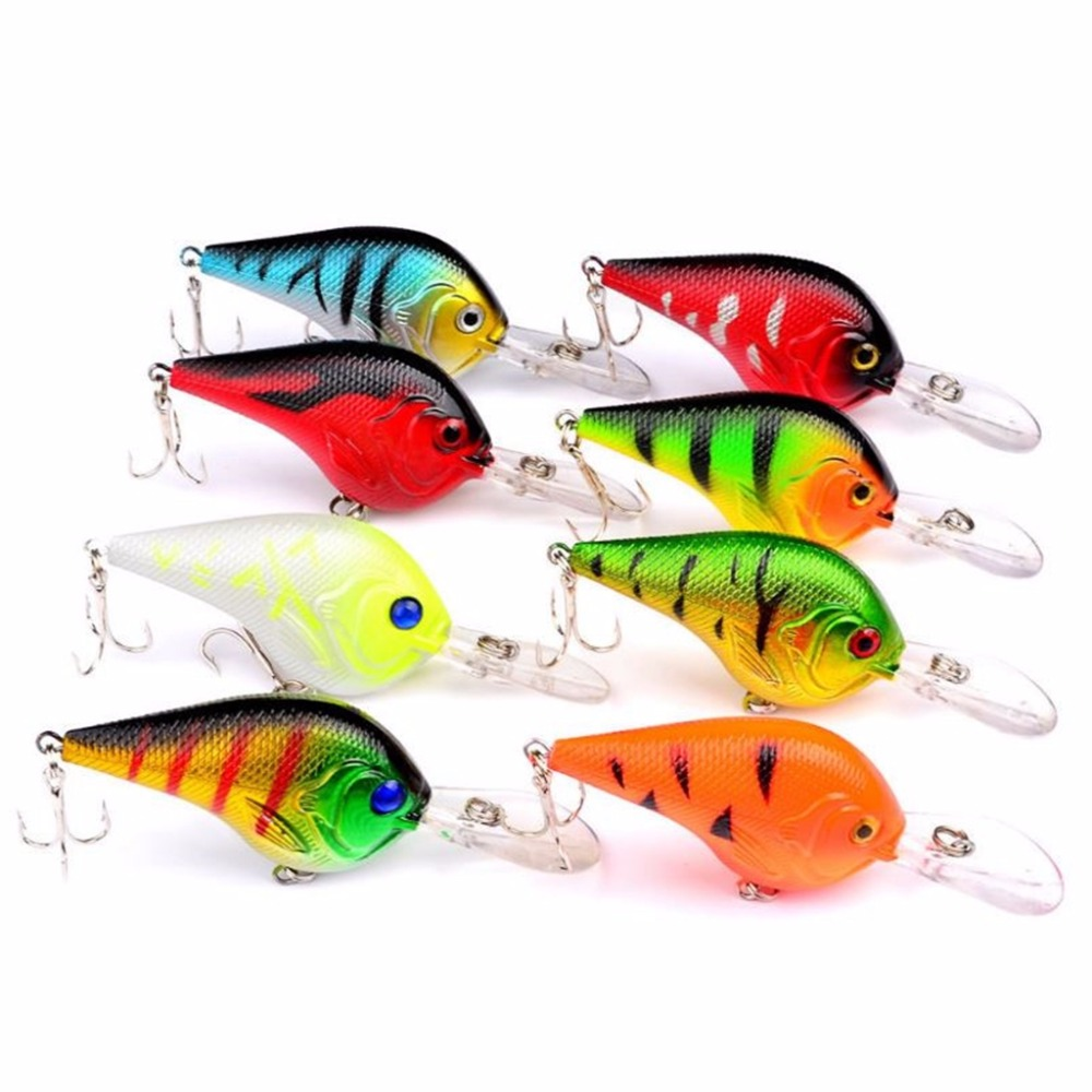 Mounchain Lot 8pcs Plastic Fishing Lures Bass CrankBait Crank Bait Tackle 11 2g 9 5cm in Fishing Lures from Sports Entertainment