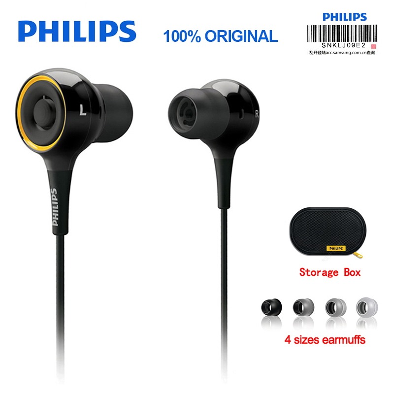 лучшая цена Original Philips SHE6000 Earphone Sport Headset In-Ear Running Earpads for xiaomi Galaxy S9 S9Plus Official Certification