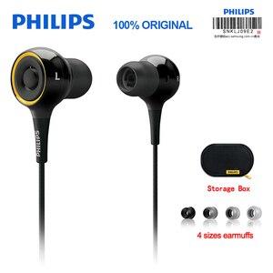 Image 1 - Originele Philips SHE6000 Oortelefoon Sport Headset In Ear Running Oorkussen voor xiaomi Galaxy S9 S9Plus Officiële Certificering