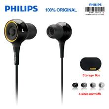 מקורי פיליפס SHE6000 אוזניות ספורט אוזניות ב אוזן ריצה Earpads עבור xiaomi גלקסי S9 S9Plus הסמכה רשמית