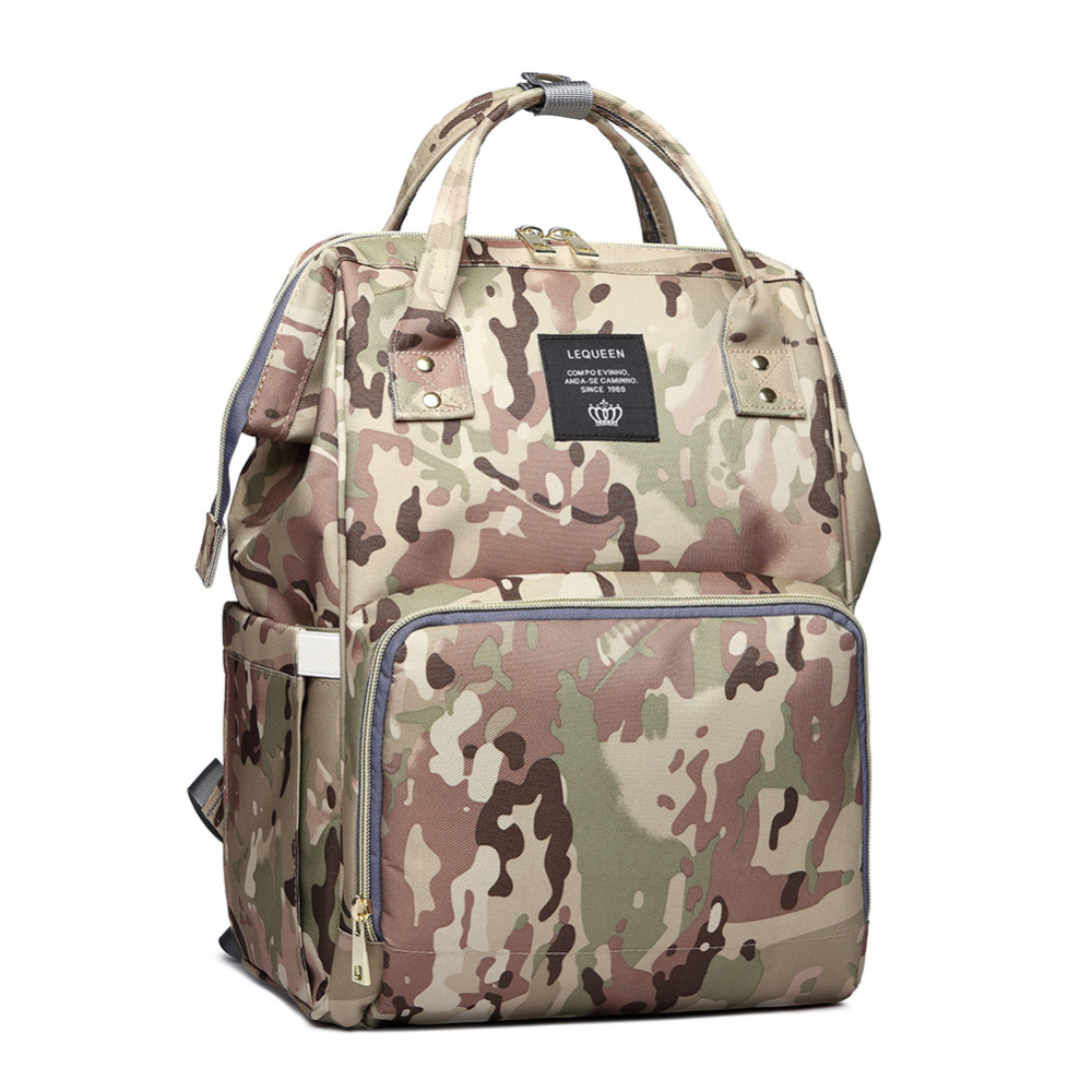 Mummy Maternity Nappy Diaper Bag Waterproof Camouflage Camo Nappy Changing Backpack Large Capacity Baby Care Wet Bag Drop Ship