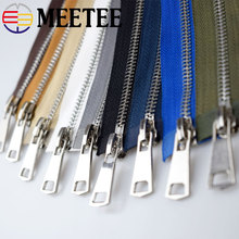 2pcs Meetee 5# Metal Zipper Double Sliders Opend End Long Zip 120cm Lock for Sewing Down Jacket Clothing Coat Accessories