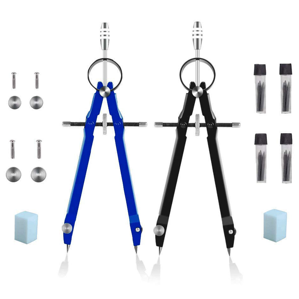 Professional Compass With Lock,  Geometry, 6inch Spring Bow Precision Math, Drafting, Comp