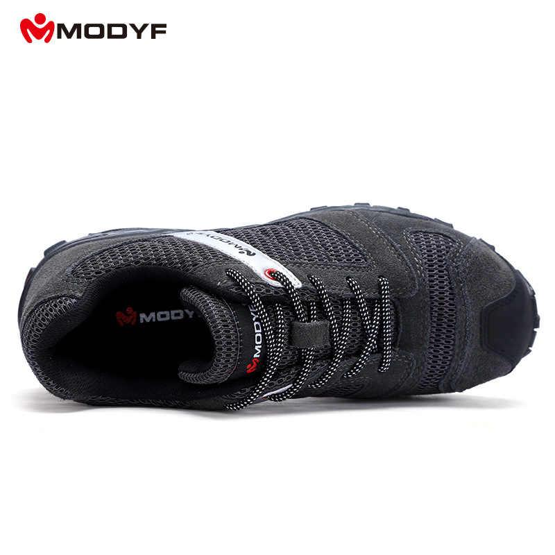 MODYF erkek çelik burun iş güvenliği ayakkabı deri rahat anti-delinme ayakkabı açık aşınmaya dayanıklı spor ayakkabı