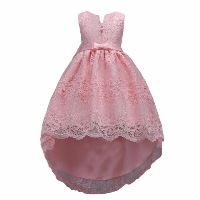Top Quality Kids Girls Sleeveless Ball Gown Lace Princess Formal
