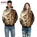 ICENY New Autumn/Winter Men's Clothing Long-Sleeved O-Neck Loose Hoodies Hip Hop 3D Printed Lion Male/Female Couple Sweatshirts
